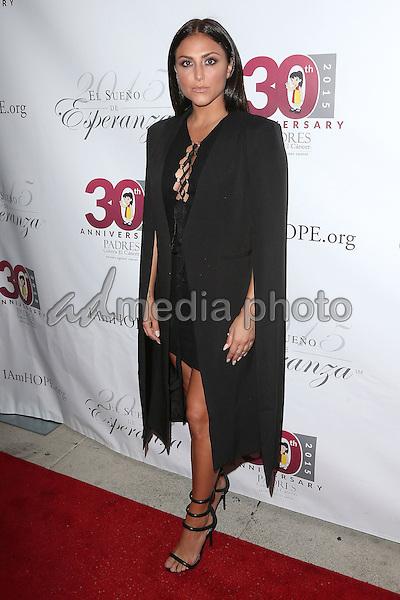 17 September 2015 - Hollywood, California - Cassie Scerbo<br /> <br /> . Padres Contra El Cancer's 15th Annual &quot;El Sueno De Esperanza&quot; held at Boulevard3. Photo Credit: F. Sadou/AdMedia