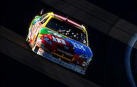 Mar 2, 2008; Las Vegas, NV, USA; NASCAR Sprint Cup Series driver Kyle Busch (18) during the UAW Dodge 400 at Las Vegas Motor Speedway. Mandatory Credit: Mark J. Rebilas-US PRESSWIRE