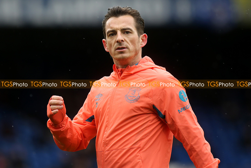 Leighton Baines of Everton warms up ahead of kick-off during Chelsea vs Everton, Premier League Football at Stamford Bridge on 8th March 2020
