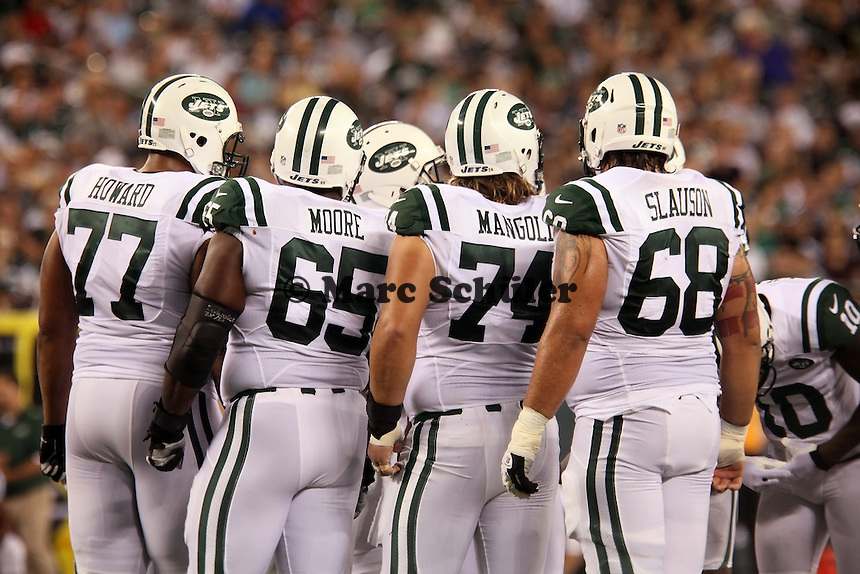 Offensive Line New York Jets - T Austin Howard, G Brandon Moore, C Nick Mangold, G Matt Slauson