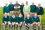 Waterville's Dr Billy side through to the final after defeating Kenmare on Saturday in Tralee, pictured here front l-r; Pat Everett(Captain Waterville GC), Aidan O'Connell, Mike Flaherty, Ger McGillicuddy, Alan Landers, back l-r; Gerry O'Malley, Hugh Mullins, Vernon Devane(Team Manager), Ted Foley, Sean O'Shea, Peter Huggard & John Quinlan.  Waterville will play Tralee in the Final on Saturday in Tralee.