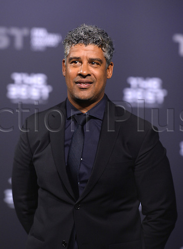 09.01.2017. Zurich, Switzerland.  Dutch former footballer Frank Rijkaard poses on arrival on the green carpet at the FIFA World Players of the Year 2016 gala in Zurich, Switzerland, 9 January 2017.