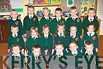 Starting school in Scartaglen NS on Tuesday was front row l-r: Kalum Buckley, Diarmuid Daly, Liam Broderick, Denis Horan, Muiris Broderick. Middle row: Michea?l Murphy, Kaitlyn O'Connell, Emer O'Connell, Emma Kerin, Abbie O'Mahony, Shauna Tangney. Back row: James Cook, Patrick Fitzgerald, Kevin O'Donoghue, Brian McEnery, Pat Mahony and Alan Kerin