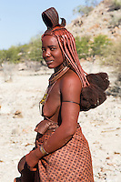 Himba Woman in remote Kaokoland, Namibia