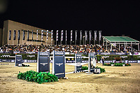 during the Longines FEI Nations Cup Jumping Final - Challenge Cup. 2017 ESP-Longines FEI Nations Cup Jumping Final - CSIO Barcelona. Real Club de Polo de Barcelona. Friday 29 September. Copyright Photo: Libby Law Photography