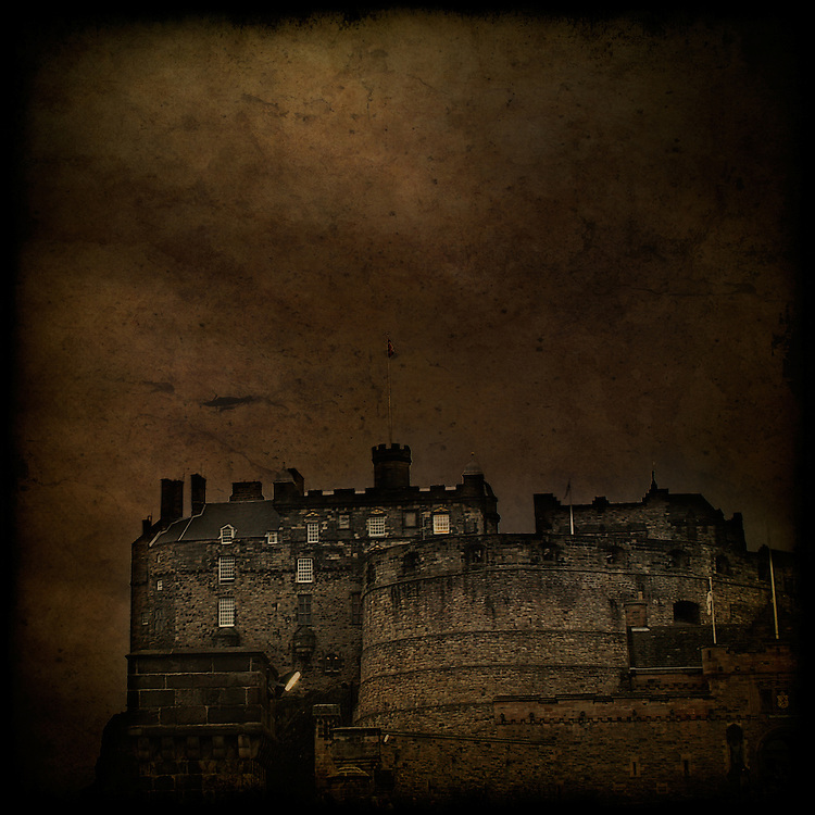 Edinburgh castle under a stormy sky