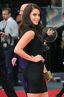NON EXCLUSIVE PICTURE: PAUL TREADWAY / MATRIXPICTURES.CO.UK.PLEASE CREDIT ALL USES..WORLD RIGHTS..Canadian actress Jessica Lowndes attending the European premiere of The Hangover Part 3, at the Empire Cinema in Leicester Square, London...MAY 22nd 2013..REF: PTY 133458