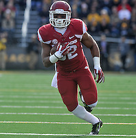 NWA Media/Michael Woods --11/28/2014-- w @NWAMICHAELW...University of Arkansas running back Jonathan Williams scores a touchdown in the 1st quarter of Friday afternoons game against Missouri at Faurot Field in Columbia Missouri.