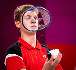 Lima, Peru -  28/August/2019 -  William Roussy competes in badminton at the Parapan Am Games in Lima, Peru. Photo: Dave Holland/Canadian Paralympic Committee.