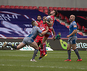 June 4th 2017, AJ Bell Stadium, Salford, Greater Manchester, England;  Rugby Super League Salford Red Devils versus Wakefield Trinity; Gareth O'Brien of Salford is tackled by Max Jowitt of Wakefield Trinity