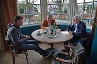 21-02-2014, Netherlands, Eemnes,  Michiel Schapers(NED), Coach, interviewd by Jon Visbeen (M) and Bep van Hout<br /> Photo: Henk Koster