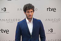 Spanish actor Quim Gutierrez poses during the `Anacleto agente secreto´ film presentation in Madrid, Spain. September 01, 2015. (ALTERPHOTOS/Victor Blanco)