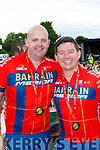 Keith McCarthy and Francie Brosnan Castleisland delighted at the finish of the Ring of Kerry cycle in Killarney on Saturday
