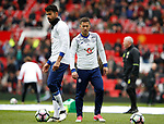Diego Costa of Chelsea and Eden Hazard of Chelsea during the English Premier League match at Old Trafford Stadium, Manchester. Picture date: April 16th 2017. Pic credit should read: Simon Bellis/Sportimage
