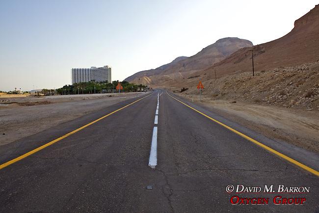 Route 90 at Ein Bokek & The Dead Sea