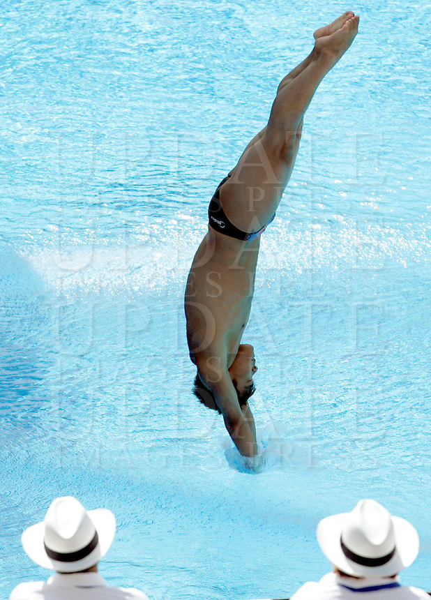 China's He Chong competes in the men's 3m springboard diving finals at the Swimming World Championships in Rome, 23 July 2009..UPDATE IMAGES PRESS/Riccardo De Luca