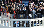 Washington, DC - January 20, 2009 -- United States Vice-President Joseph Biden is sworn in as his family looks on, during the 56th Presidential Inauguration ceremony for Barack Obama as the 44th President of the United States in Washington, DC, USA 20 January 2009. Obama defeated Republican candidate John McCain on Election Day 04 November 2008 to become the next U.S. President.Credit: Pat Benic - Pool via CNP