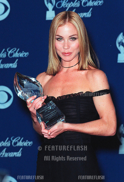 "10JAN99:  ""Jesse"" star CHRISTINA APPLEGATE at the 25th Annual People's Choice Awards in Pasadena, California. .Her show tied for favorite new TV comedy series.      .© Paul Smith / Featureflash"