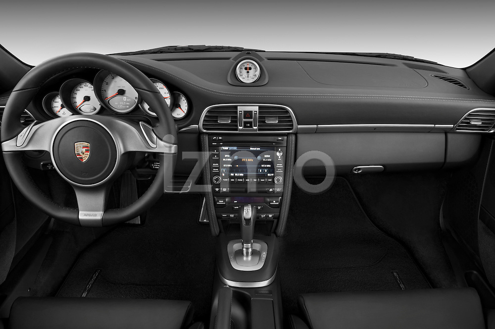 Straight dashboard view of a 2009 Porsche Carrera 4S Coupe.