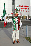 7 February 2007: Unidentified Mexico fan outside the University of Phoenix Stadium, pregame. The United States National Team defeated Mexico 2-0 at University of Phoenix Stadium in Glendale, Arizona in an International Friendly soccer match.