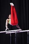 Ä Shogo Nonomura (JPN), <br /> AUGUST 20, 2018 - Artistic Gymnastics : Men's Individual All-Around Parallel Bars at JIEX Kemayoran Hall D during the 2018 Jakarta Palembang Asian Games in Jakarta, Indonesia. <br /> (Photo by MATSUO.K/AFLO SPORT)