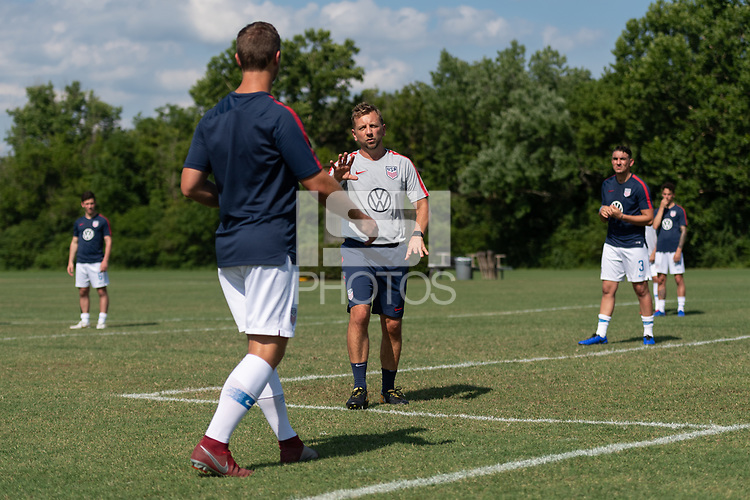 Rome, GA - Friday, June 21, 2019:  Stuart Sharp, Para 7 USMNT during a Para 7 USMNT training session.