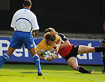 Ben McCalman flys over to score a try. Australia U20 V Canada U20. Junior Rugby World Cup 2008 © Ian Cook IJC Photography iancook@ijcphotography.co.uk www.ijcphotography.co.uk..