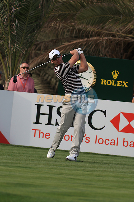 Paul Casey Teeing off on the 14th on day one of the Abu Dhabi HSBC Golf Championship 2011, at the Abu Dhabi golf club, UAE. 20/1/11..Picture Fran Caffrey/www.golffile.ie.