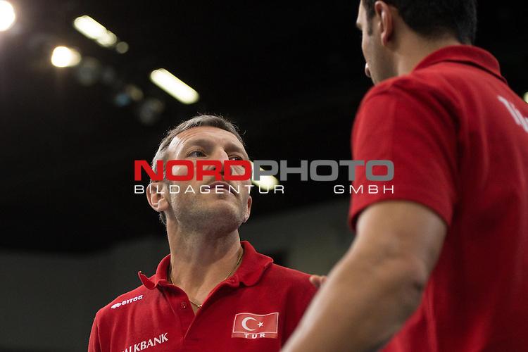 05.01.2014, MHP Arena, Ludwigsburg<br /> Volleyball, Qualifikation WM 2014, Deutschland vs. T&uuml;rkei / Tuerkei<br /> <br /> Emanuele Zanini (Trainer / Coach TUR)<br /> <br />   Foto &copy; nordphoto / Kurth