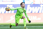 Marc-Andre Ter Stegen of Futbol Club Barcelona in action during the match of Spanish La Liga between Atletico de Madrid and Futbol Club Barcelona at Vicente Calderon Stadium in Madrid, Spain. February 26, 2017. (Rodrigo Jimenez / ALTERPHOTOS)