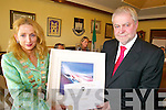 CIVIC AWARD: Attorney General, Paul Gallagher, receives a special civic award on behalf of Tralee Town Council from Mayor Miriam McGillycuddy on Friday.   Copyright Kerry's Eye 2008