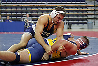 PHILADELPHIA, PA - NOVEMBER 18: Anthony Cassar of the Penn State Nittany Lions wrestles during the 285 pound championship match at the Keystone Classic on November 18, 2018 at The Palestra on the campus of the University of Pennsylvania in Philadelphia, Pennsylvania. (Photo by Hunter Martin/Getty Images) *** Local Caption *** Anthony Cassar