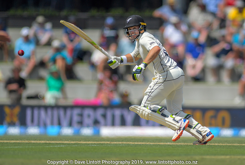 NZ's Tom Latham bats during day two of the international cricket 1st test match between NZ Black Caps and England at Bay Oval in Mount Maunganui, New Zealand on Friday, 22 November 2019. Photo: Dave Lintott / lintottphoto.co.nz