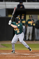 Siena Saints outfielder Carlos Tapia (29) at bat during the opening game of the season against the UCF Knights on February 13, 2015 at Jay Bergman Field in Orlando, Florida.  UCF defeated Siena 4-1.  (Mike Janes/Four Seam Images)
