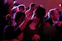 Crop detail of Audience attending the KSC Antononmous Spaces Benefit Bristol Dec 2010Autonomous spaces fundraiser, Easton Community Centre, Kilburn Street, Easton, Bristol, Dec 2010.