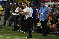 MONTERIA - COLOMBIA, 10-03-2020: Jorge Ricardo Artigas técnico de Cucuta gesticula durante el partido por la fecha 8 de la Liga BetPlay DIMAYOR I 2020 entre Jaguares de Córdoba F.C. y Cúcuta Deportivo jugado en el estadio Jaraguay de la ciudad de Montería. / Jorge Ricardo Artigas coach of Cucuta gestures during match for the date 8 as part BetPlay DIMAYOR League I 2020between Jaguares de Cordoba F.C. and Cucuta Deportivo played at Jaraguay stadium in Monteria city. Photo: VizzorImage / Andres Felipe Lopez / Cont