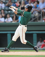 Outfielder Christian Yelich (7) of the Greensboro Grasshoppers in a game against the Greenville Drive on April 25, 2011, at Fluor Field at the West End in Greenville, S.C. Yelich was a first-round pick by the Florida Marlins in the 2010 First-Year Player Draft. Photo by Tom Priddy / Four Seam Images.