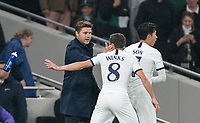 Spurs manager Mauricio Pochettino & Harry Winks of Spurs during the UEFA Champions League group match between Tottenham Hotspur and Bayern Munich at Wembley Stadium, London, England on 1 October 2019. Photo by Andy Rowland.
