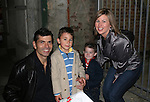"""Actor Joe Barbara (Captain Joe Carlino - Another World and Paolo Caselli - All My Children) poses with his sons Joseph and Nicholas and wife Nicole after the musical which Joe stars in - the musical """"I Come For Love"""" as Scoop as a part of the New York Musical Theatre Festival at the Chernuchin Theatre, NYC, NY. (Photo by Sue Coflin/Max Photos)"""