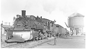 3/4 engineer side view of K-36 #483 with plow at Antonito?<br /> D&amp;RGW  Antonito ?, CO