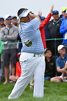 Kiradech Aphibarnrat (THA) watches his tee shot on 9 during round 1 of the 2019 US Open, Pebble Beach Golf Links, Monterrey, California, USA. 6/13/2019.<br /> Picture: Golffile | Ken Murray<br /> <br /> All photo usage must carry mandatory copyright credit (© Golffile | Ken Murray)