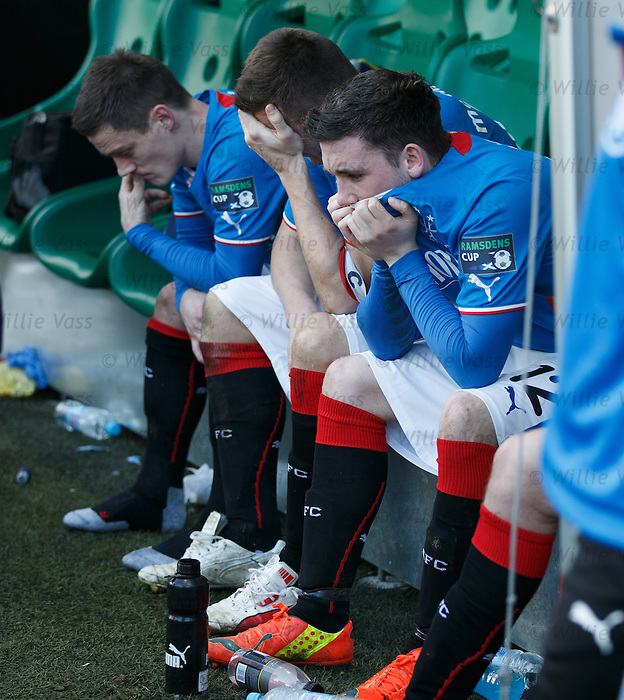 Dejection from Nicky Clark, Lee McCulloch and Ian Black after losing the Ramsdens Cup to Raith Rovers