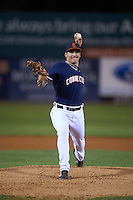 Connecticut Tigers pitcher Toller Boardman (19) delivers a pitch during the second game of a doubleheader against the Brooklyn Cyclones on September 2, 2015 at Senator Thomas J. Dodd Memorial Stadium in Norwich, Connecticut.  Connecticut defeated Brooklyn 2-1.  (Mike Janes/Four Seam Images)