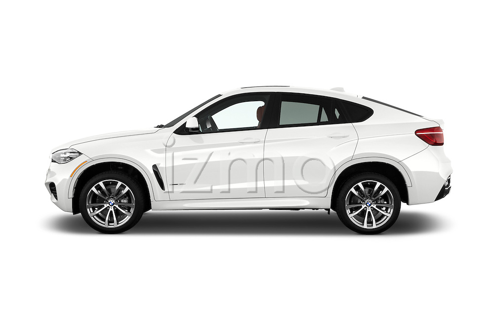Car Driver side profile view of a 2017 BMW X6 sDrive35i 5 Door SUV Side View