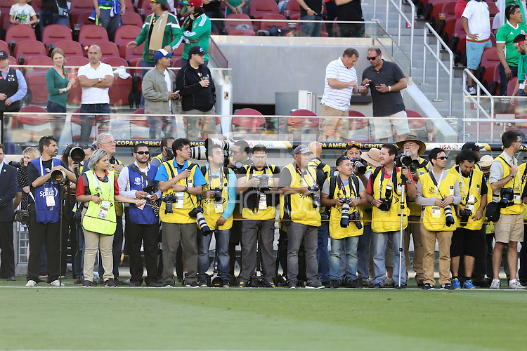Santa Clara, CA - Saturday June 18, 2016: Photographers during a Copa America Centenario quarterfinal match between Mexico (MEX) and Chile (CHI) at Levi's Stadium.