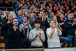 22.09.2019 St Johnstone v Rangers: Rangers fans applause on 2nd minute