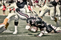 Mike Rozier, #30, Atlanta Flacons, Atlanta Falcons at Tampa Bay Buccaneers.  The Bucs beat the Falcons 23-17  at Tampa Stadium on December 2, 1990, Tampa, Florida.  (Photo by Brian Cleary/bcpix.com)