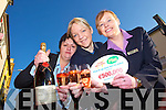 WINNING TICKET: Staff of Garveys SuperValu, Tralee celebrate selling EUR500,000 Euro million lottery ticket on Wednesday 13th February outside their store on Rock Street l-r: Breda Woulfe, Deborah Reid and Teresa Leneghan.    Copyright Kerry's Eye 2008