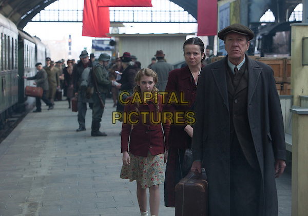 Sophie Nelisse, Emily Watson, Geoffrey Rush<br /> in The Book Thief (2013) <br /> *Filmstill - Editorial Use Only*<br /> CAP/FB<br /> Image supplied by Capital Pictures