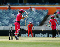 2nd November 2019; Western Australia Cricket Association Ground, Perth, Western Australia, Australia; Womens Big Bash League Cricket, Melbourne Renegades versus Sydney Sixers; Ellis Perry of the Sydney Sixers plays to the off side - Editorial Use